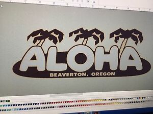 ALOHA-Vintage-Travel-Trailer-12-034-decal-Custom-silver-grey-Blue-amp-Brown-set-2