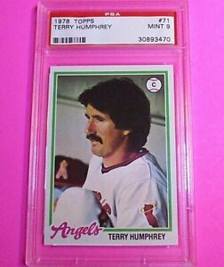 1978 Topps Baseball #71 Terry Humphrey,  PSA 9 MINT High Grade card