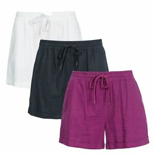 Trespass-Belotti-Womens-Summer-Camping-Hiking-Shorts-Linen-Blend