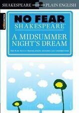 No Fear Shakespeare: A Midsummer Night's Dream by SparkNotes Staff, William Shakespeare and John Crowther (2003, Paperback)
