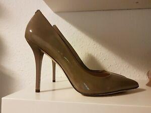 Details zu GUESS Pumps Größe 39 high heels Farbe grau Lack