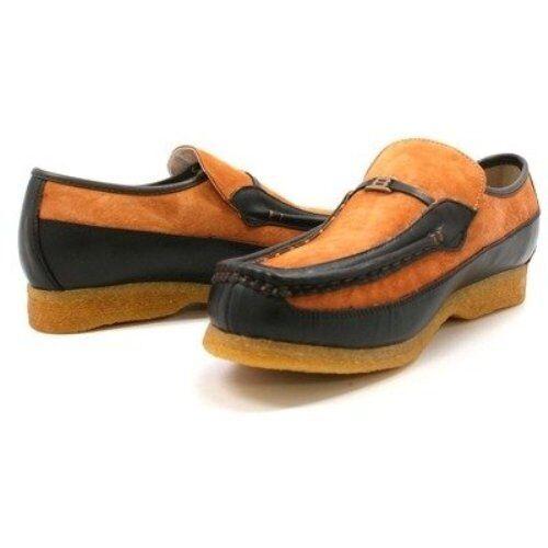 Mens British Walkers Original Power Crepe Sole Rust Brown Leather