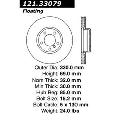 Centric Brake Disc Front Driver or Passenger Side New AWD for VW RH 121.33079