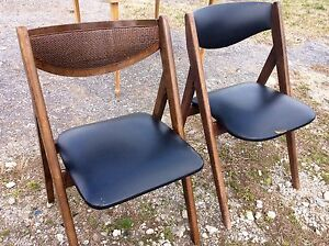 Vintage, Retro, Mid-century Selfless Midcentury Danish Modern Curved Back Folding Card Table Samsonite Gaming Chairs An Enriches And Nutrient For The Liver And Kidney
