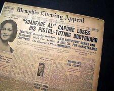 "AL ""SCARFACE"" CAPONE Tax Evasion Trial Bodyguard Gun Arrest 1931 Old Newspaper"