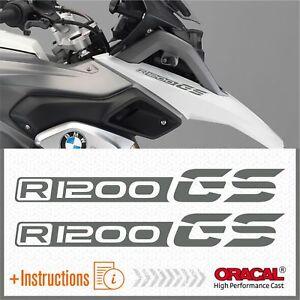 2x-R1200-GS-Grey-BMW-ADESIVI-PEGATINA-R1200GS-AUTOCOLLANT-R-1200-AUFKLEBER