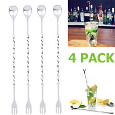 "H501K TABLECRAFT 11/"" Polished Stainless Steel Bar Cocktail Mixing Spoon"