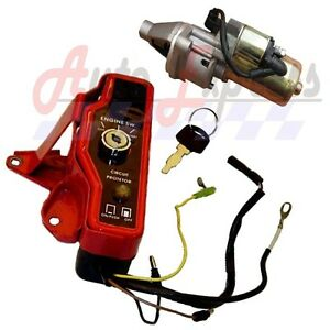 Honda-GX160-amp-GX200-Ignition-Switch-Box-With-Starter-Motor-amp-Solenoid-With-Keys
