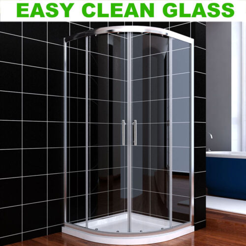 800x800mm Easy Clean Quadrant Shower Enclosure Glass Screen Door Corner Cubicle