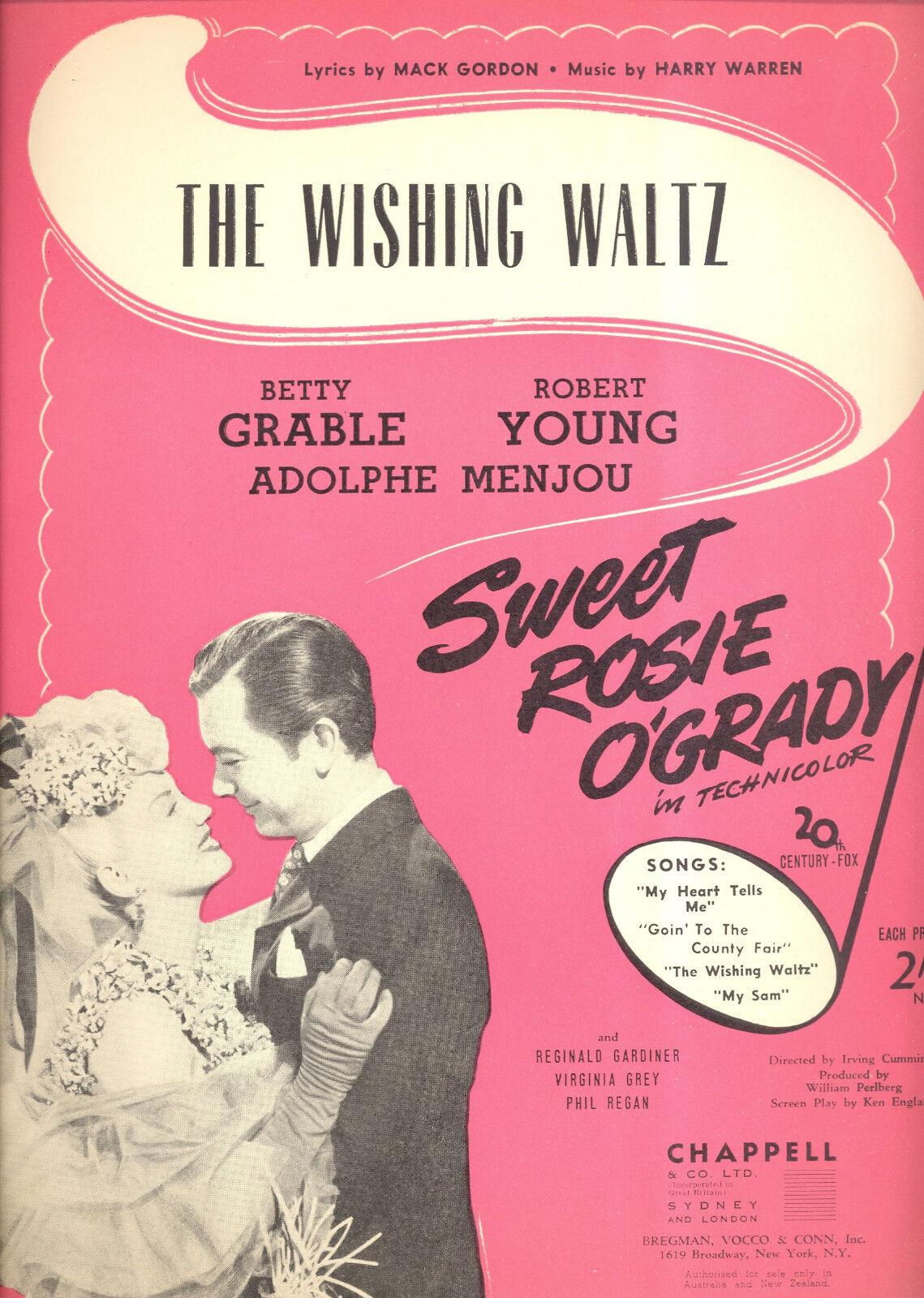 Sweet Rosie o'grady partituras    Vals  Betty Grable deseando Robert Young Austr b05c94