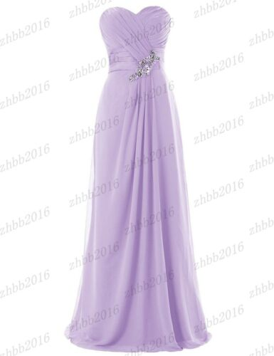New Chiffon Bridesmaid Formal Ball Gown Party Cocktail Evening Prom Dresses 6-26