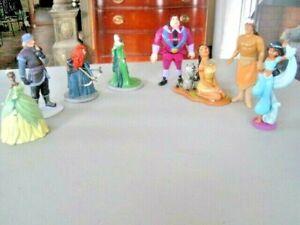 Disney-Princesse-Lot-15-PRINCESSES-Prince-Mechant-PVC-Cake-Topper-Doll-Figures