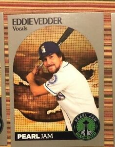Details About Pearl Jam Seattle Baseball Card Eddie Vedder Bat 2018 Home Shows Trading