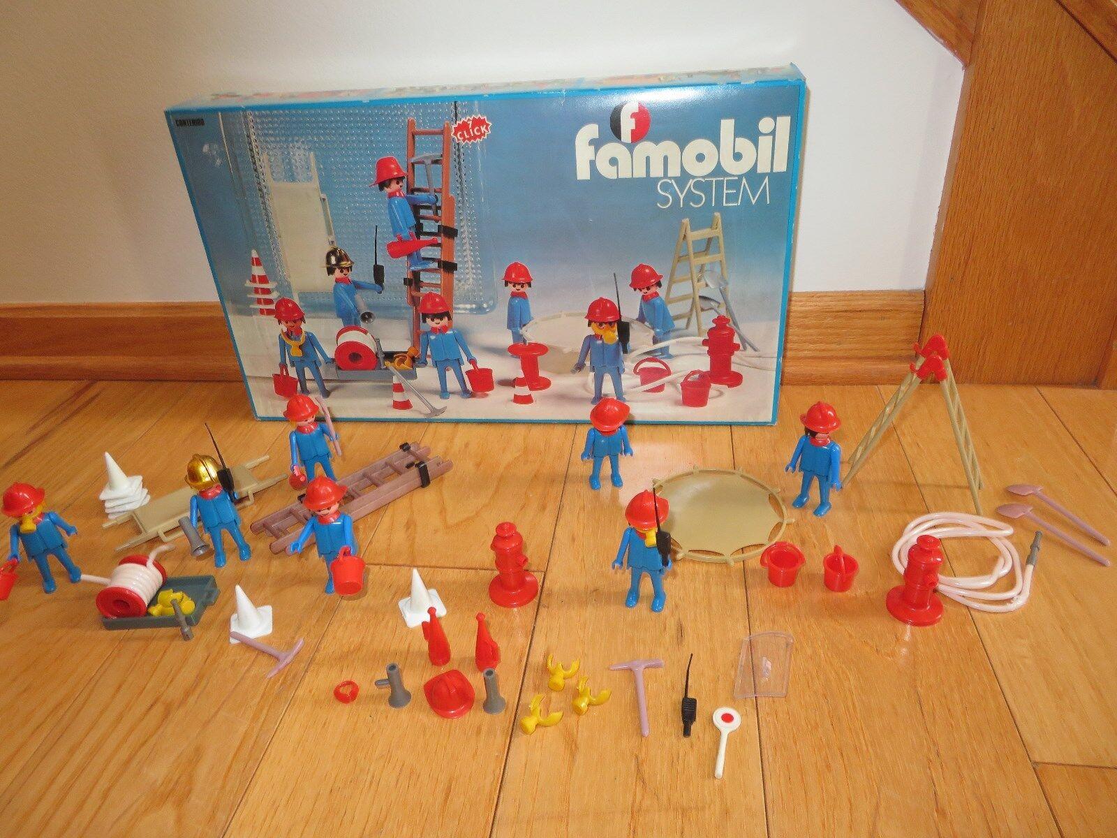 Playmobil Vintage Famobil System 3403 Fireman Firefighters toy Playset