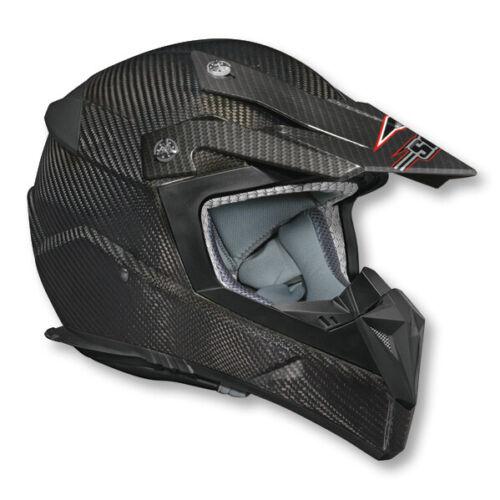 Vega Flyte Carbon Fiber MX Offroad Helmet Black