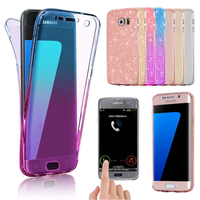 Cover Case UltraThin Slim 360 TPU Gel Skin Pouch fr Samsung Galaxy S9 S8+ S7Plus