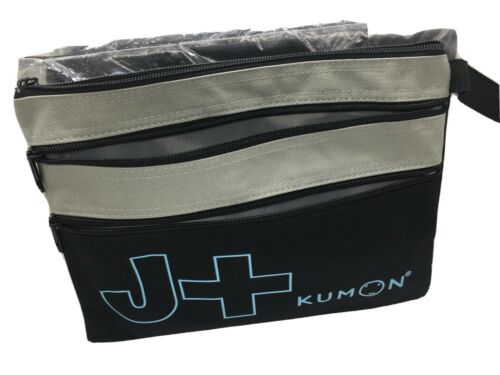 Kumon Canvas Pencil Pouch Black Gray x1 J+