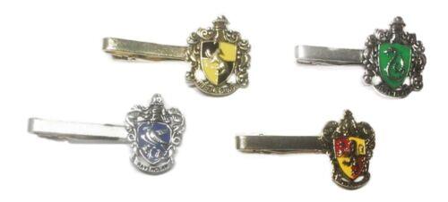 Harry Potter Set of 4 House Crests Themed Symbol Enamel Metal Tie Clips