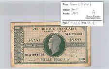BILLET FRANCE (TRÉSOR) - 1000 FRANCS 1945 - A