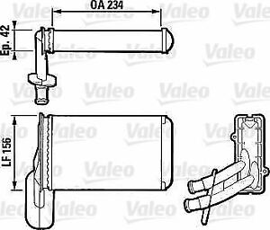 Valeo RADIATOR HEATER RIGHT HAND DRIVE ONLY 812031 OE 1H2819031A,1H2819031A