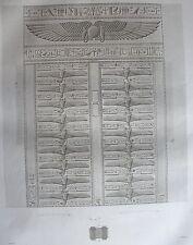 THEBES . KARNAK. (pl. 50, A. vol. III).Plan et detail  ...  DESCRIPTION EGYPTE
