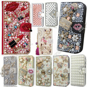 DIY-Flip-Leather-3D-Bling-Crystal-Flower-Wallet-Case-Cover-For-Huawei-Honor
