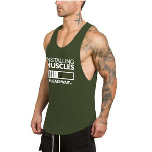 cad9221dd9e Men s Casual Athletic Workout Tank Tops Fitness Sports Gym ...