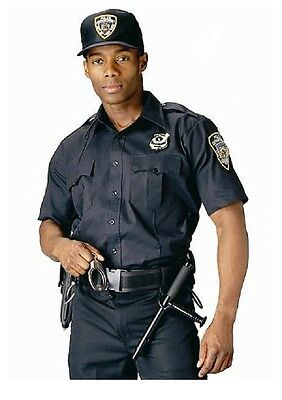 Navy Blue Law Enforcement Security EMT Short Sleeve Uniform Shirt 30020