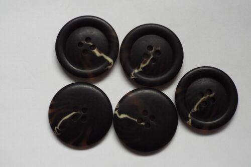 5pc 38mm épais synthétique brown horn manteau cardigan enfants tricot bouton 0665