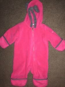 d10e1570b Columbia Baby Snow Bunting Fleece 3-6 months Red Pink Bear