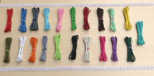21 to 42 Meters 21 Colour Mix From £2.98 Free P/&P Waxed Cotton Cord 1.5mm
