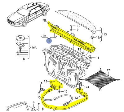 AUDI A8 S8 1998-2003 COMPLETE REAR SUNSHADE 4D0861329B | eBay