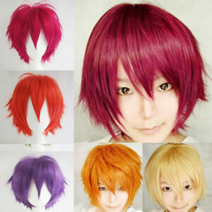 Fashion-Multi-Color-Men-Boy-Short-Straight-Hair-Wig-Anime-Party-Cosplay-Wigs-HOT