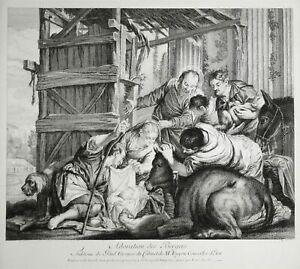 PAOLO-VERONESE-Adoration-des-bergers-anbetung-Hirten-Kupferstich-GRAVURE