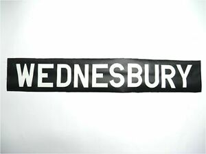 Vintage-1973-screen-printed-linen-Bus-destination-blind-Wednesbury