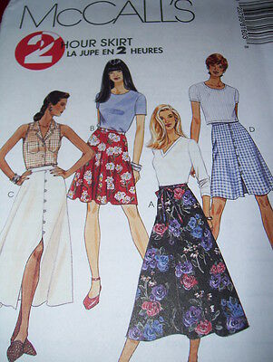 McCALL'S #8160 - LADIES PRETTY ( 2 HOUR - 4 STYLE ) FLARED SKIRT PATTERN 4-16 FF