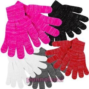 Women-039-s-Gloves-Knitted-Winter-Lurex-Filament-Silver-Gift-Idea-New-Gl-091
