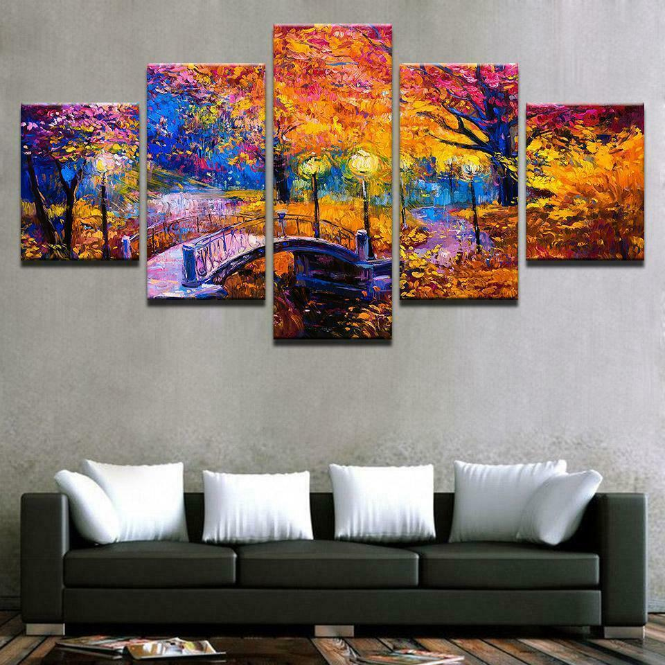 Autumn Pastel Romantic Painting  5pcs canvas Wall Decor Home Decor Canvas Print