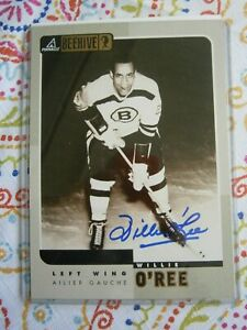 Willie O'ree signed Beehive 5 x 7 card Boston Bruins | eBay