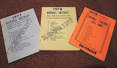 1977-81 MLB Bill James Baseball Abstract Reprints