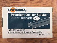 Shcr 5019 3/8 Staples, 5000 Per Box