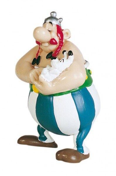 Astérix y Obelix figura de colección Obelix con Idefix 8 cm 605029