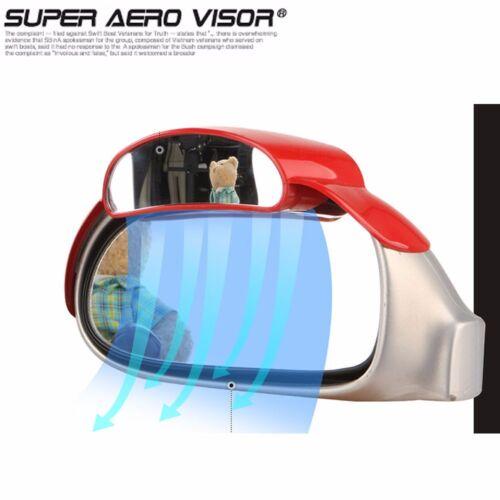 2PCS Super Aero Visor Side View Blind Spot Mirror Rain Blower For Universal Car