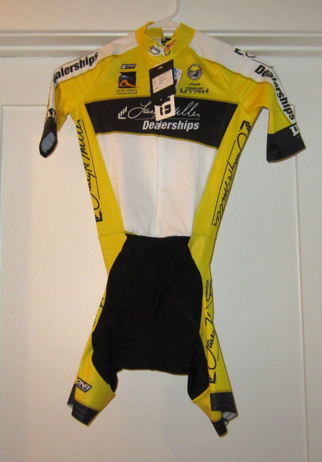 DNA Cycling     NEW XXS Tour of Utah Lycra Sport Jersey Skin Suit Padded  29fa99
