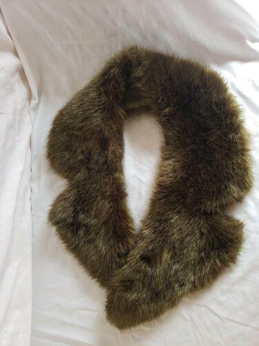 Topshop Faux Fur Stole Scarf, Green, Super Soft! E