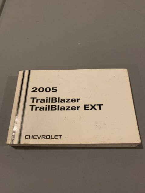 2005 05 Chevy Chevrolet Trailblazer Owners Manual Xl