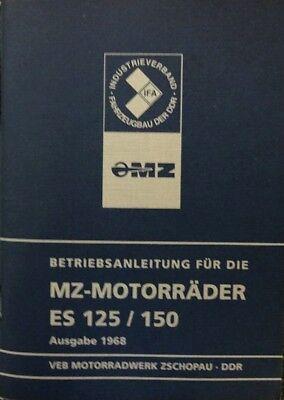 Betriebsanleitung MZ ES 125 /& 150 mit Schaltplan IFA blau DDR Stil Ifa Handbuch