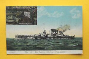 Gloria-Viktoria-Marine-AK-Linienschiff-Unterdeck-Batterie-Matrosen-1914-18-1-WK