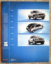 """2004 GMC PRODUCT GUIDE Full Line Brochure Sonoma """"Combined Shipping to the US"""""""