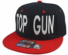 Top Gun Snapback Hat Adam Devine Cap Black Red